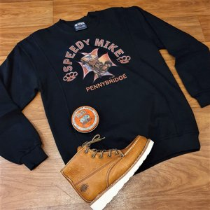 SPEEDY MIKE CREWNECK - MALTESER KORS HOT ROD SVART