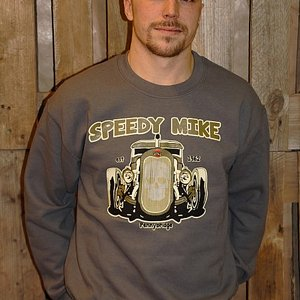 SPEEDY MIKE CREWNECK - NY FRONT GRÅ