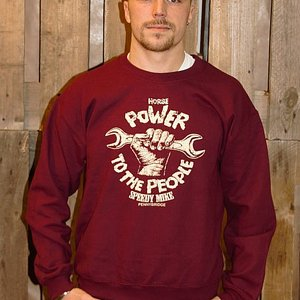 SPEEDY MIKE CREWNECK - POWER TO THE PEOPLE MAROON