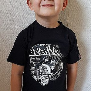 SPEEDY MIKE T-SHIRT BARN HOTROD SVART