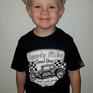 SPEEDY MIKE T-SHIRT BARN KRAKELERAD SVART