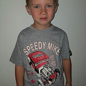 SPEEDY MIKE T-SHIRT BARN STAR GRÅ