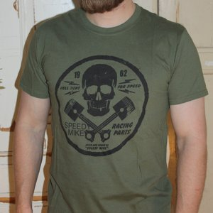 SPEEDY MIKE T-SHIRT - DÖSKALLE ARMY GRÖN