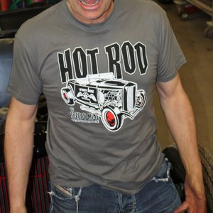 SPEEDY MIKE T-SHIRT - HOT ROD GRÅ
