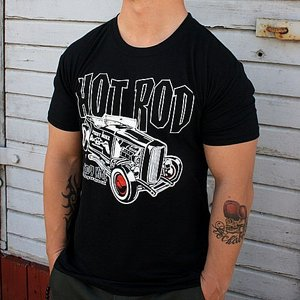 SPEEDY MIKE T-SHIRT - HOT ROD SVART