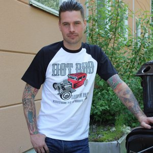 SPEEDY MIKE T-SHIRT - LOUD N FAST SVART/VIT