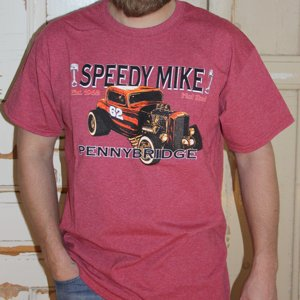 SPEEDY MIKE T-SHIRT - ORANGE ROD MELERAD RÖD