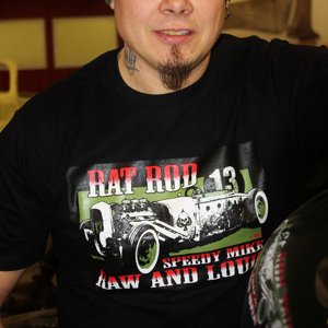 SPEEDY MIKE T-SHIRT - RAT ROD SVART