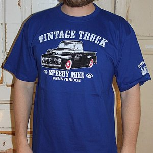 SPEEDY MIKE T-SHIRT - VINTAGE TRUCK BLÅ