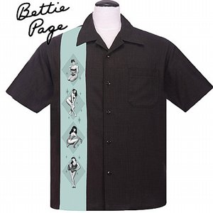 STEADY CLOTHING SKJORTA - BETTY PAGE SEA GREEN