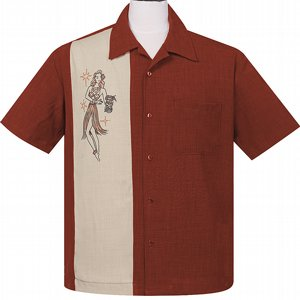 STEADY CLOTHING SKJORTA - MAI TAI MIRAGE RUST