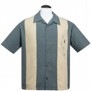 STEADY CLOTHING SKJORTA - MID CENTURY MARVEL CHARCOAL
