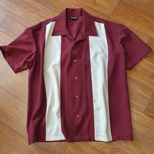 STEADY CLOTHING SKJORTA - PANELL BOWLING BURGUNDY