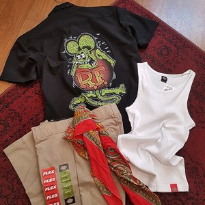 STEADY CLOTHING SKJORTA - RAT FINK ROTH RACER