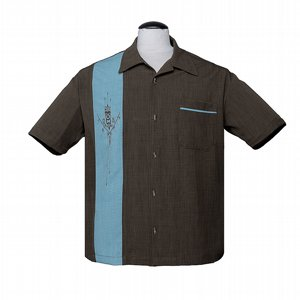 STEADY CLOTHING SKJORTA - TIKI N BAMBOO BROWN