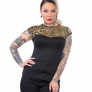 STEADY CLOTHING TOPP - LEOPARD MISS FANCY TOP 2 thumbnail