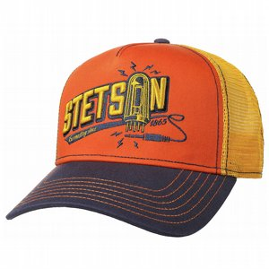 STETSON KEPS - CONNECTING TRUCKER CAP GUL