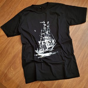 SURF LAB T-SHIRT - BIG SHIP BLACK