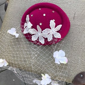 SWEET CO. 50S HATT - FLOR ROSA