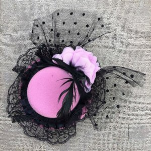 SWEET CO. BURLESQUE HATT - STOR LJUS ROSA