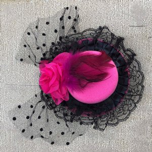 SWEET CO. BURLESQUE HATT - STOR ROSA