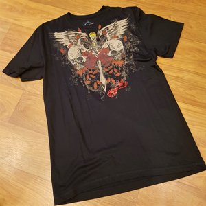 TATTOO TEE - SKULL WINGS AND SWORD