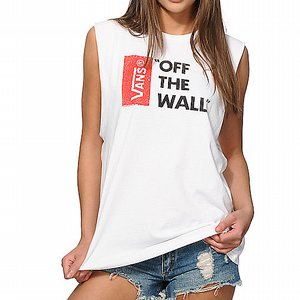 VANS GIRLY LINNE - BOYFRIEND FIT OFF THE WALL