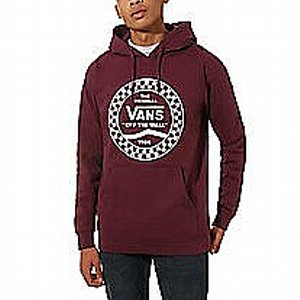 VANS HOOD - CHECKERED SIDE MAROON
