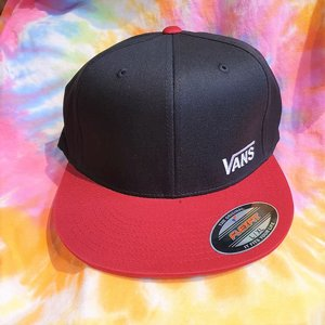 VANS KEPS - SPLITZ BLACK/RED L/XL