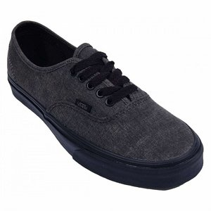 VANS SKOR - AUTHENTIC WASHED BLACK