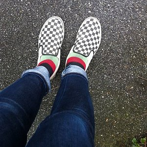 VANS SKOR - CLASSIC SLIP-ON CHECKER BLACK/WHITE