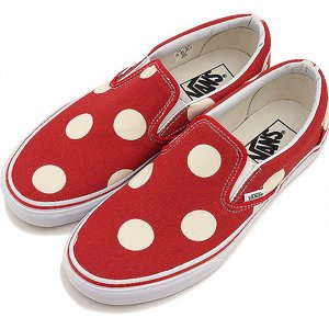 VANS SKOR - CLASSIC SLIP-ON POLKADOT FORMULA ONE RED 2 thumbnail