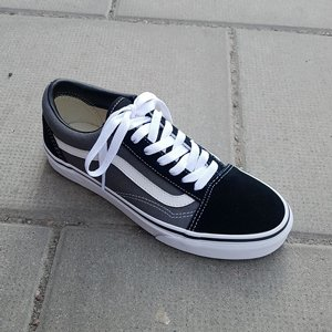 VANS SKOR - OLD SKOOL BLACK/PEWTRE