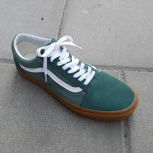 VANS SKOR - OLD SKOOL DUCK GREEN/GUM