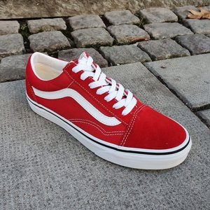 VANS SKOR - OLD SKOOL RACING RED/TRUE WHITE