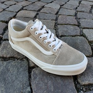 VANS SKOR - OLD SKOOL VELVET GRAY/TRUE WHITE