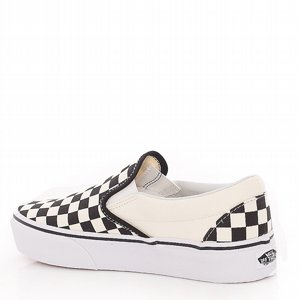 VANS SKOR - PLATFORM CLASSIC SLIP-ON CHECKER BLACK/WHITE 2 thumbnail