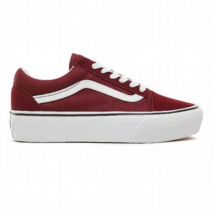 VANS SKOR - PLATFORM OLD SKOOL PORT ROYALE/TRUE WHITE