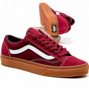 VANS SKOR - STYLE 36 OLD SKOOL GUM/BEET RED/PORT ROYAL